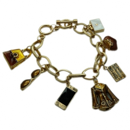 Golden Tone Travel Set Chunky bracelet